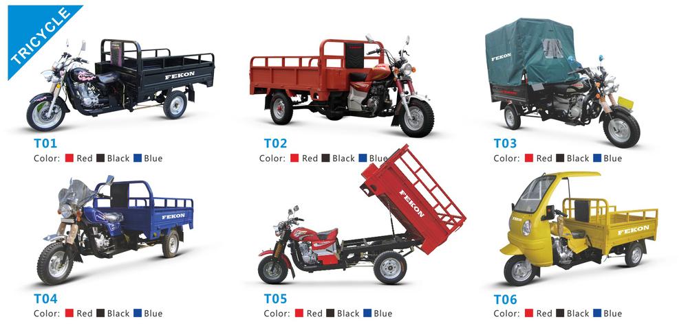 Guangzhou fekon cargo three wheeled tricycle