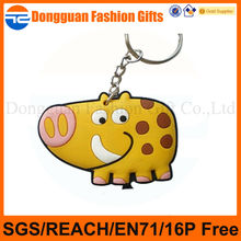 2014 hot selling products for custom cow designs pvc keychain,wholesales custom keychain,cartoon pvc custom keychain in China