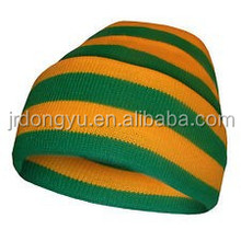 Striped Style and Plain knit Dyed Pattern caps