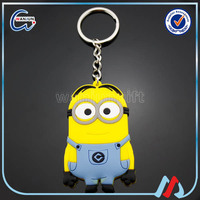 best minions despicable me 10cm rubber keychain