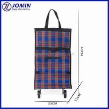 Rolling Wheeled Shopping Tote Bag, Cheap Folding Wheeled Marketing Trolley Bag