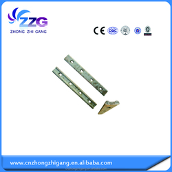 railway track and light steel rail with fish plate