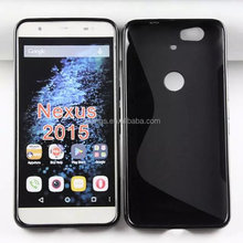 Cell phone accessory S line glossy TPU soft back cover case case cover for huawei nexus 6 2015 china price
