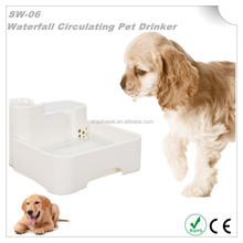 Super Quiet Operation Waterfall Circulating Pet Drinker with digital pet water bowl