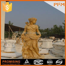 hot sale natural well polished marble made hand carved stone garden fox