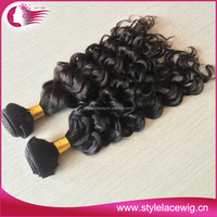 Factory Price Best Quality Smooth 100 human hair extension hair weave bebe curl weave