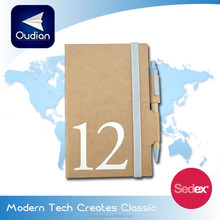 OEM Eco-friendly Recycled Paper Notebook with Recycled paper Ball pen Multiple Function School Supplies