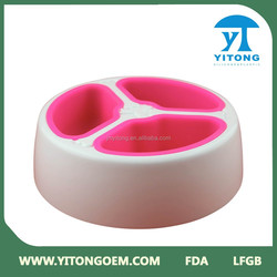 2015 ABS smooth surface inovative Plastic pet bowl/plastic dog bowl with picture