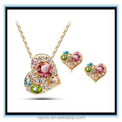 FACTORY PRICE best selling fashion jewelry set with free sample, latest design bridal jewelry set