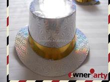 Silver Color Foil Paper Custom Party Paper Hats