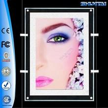Custom acrylic LED frameless poster frame picture hanging