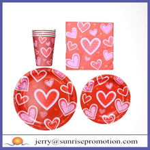 Paper Plate/ Cup/ Napkin Set Disposable Party Supplies