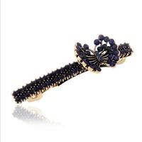 Retro butterfly hair clip plain metal barrettes wholesale hairpins for hair accessor