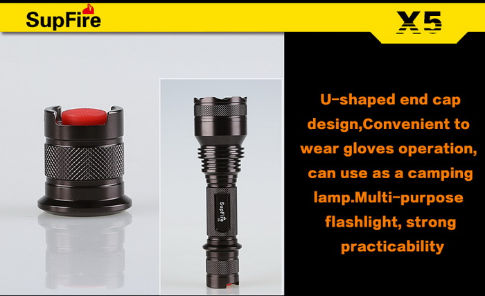 Cost-Effective Multi-Function Powerful Rechargeable LED Torch Light X5-T6
