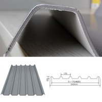 heat insulation 3-layer PVC corrugated roofing sheet