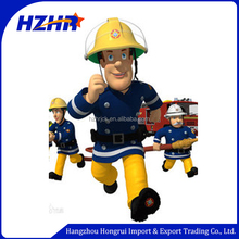 hot sale cartoon character sam kids fireman costume/fireman sam kids costume for party
