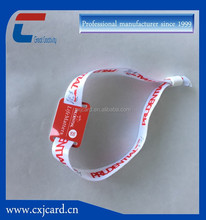 Long Reading Range HF UHF RFID woven nylon polyester Wristband From Leading Manufacturer