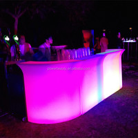 Rotational molding glowing PE Plastic rechargeable waterproof furniture led bar counter