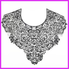 Hot sell elegant ladies kurta neck design lace collar trim for dress WNL172