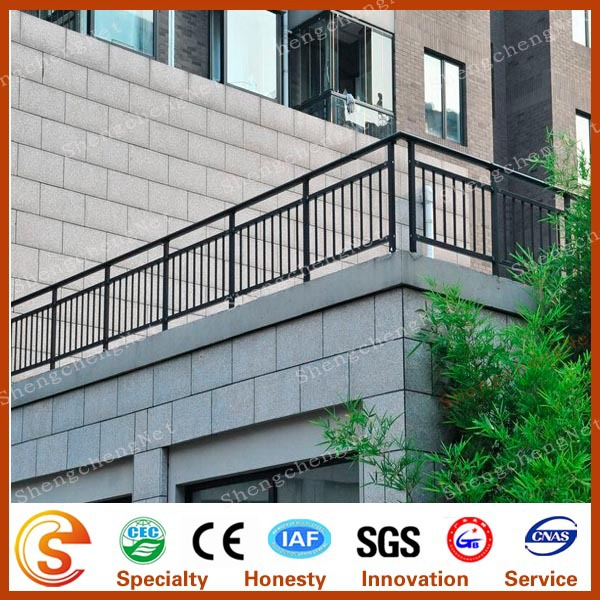 Decorative balcony grill design veranda fence pvc for Terrace grills design