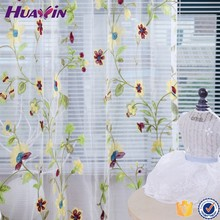 100% polyester High Quality Top Sell Embroiderd Voile Curtains