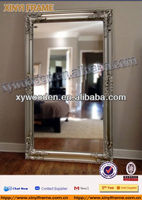 Antique gold rectangle wooden framed mirror, wall mirror,decoration mirror,