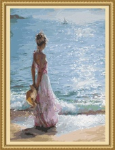 40*50cm handmade drawings to paint oil painting by number