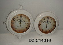 white background vintage antique clock wall