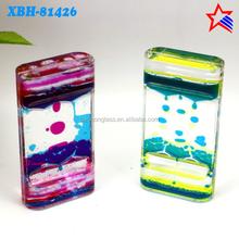 Acrylic Innovative Double 3 colors Liquid Oil Hourglass for Wedding Gifts