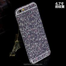 Bling Bling Glitter Shiny PET Full Body Sticker For iPhone 6 Plus with Leopard Skin