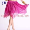 Corto tela brillante sexy danza del vientre falda con lentejuelas egipto belly dance vestido para para Q-6013 #