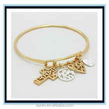 XP-MP-099398 FACTORY PRICE cross and heart Hot west indian 22k gold bangles