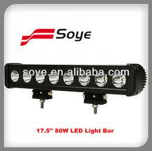 80W led off road light bar,12V / 24V 17.5 '' mining light bar 4x4 accessories,rigid led light bar for car