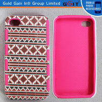 2014 New Design 2 in 1 PC + TPU Hard Case For iPhone 5C Combo Case With Muilticolors