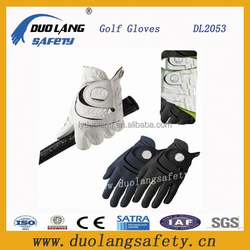 Customized frog and butterfly logo printed golf Glove great grip mens white leather gloves