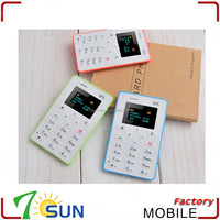 new 2015 AIEK M5 Ultra Thin Mini Pocket GSM Children 1.0 inch Small Card Mobile Phone ultra thin dual sim cell phone