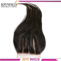 Stock Silk Straight 3 way part Lace Closure Bleached Knots, brazilian virgin hair with closure