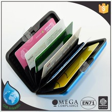 Aluminum atm credit card holder wallet