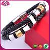 China 2014 2015 wrap braided bulk engravable wholesale wide love rhinestone snap bracelet making supplies leather bracelet