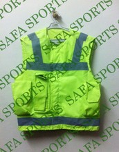 Bitter Lemon And White Color Police Reflective Vest