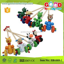 High Quality Lower Price Toddler Toys Wooden Aminal Pull and Push Toy