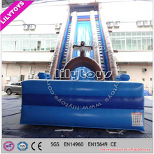 Inflatable slip n slide/ giant city inflatable slide / 300m cheap big water slide for sale