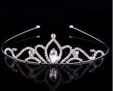 Factory price!! bridal/woman/girls wedding party hair accessories top quality crystal princess rhinestone crown tiara big sale!!