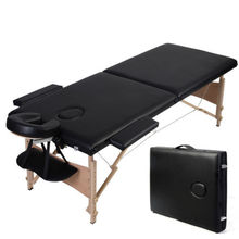 Deluxe Lightweight Professional Massage Table wooden SALON Beauty Couch Bed Spa PHYSIOTHERAPY TATTOO Portable Folded 2 Section