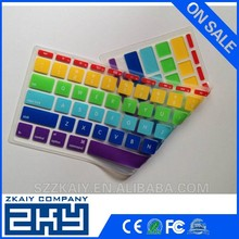 Factory manufacture colorful rubber keyboard skin for macbook pro air