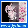 de color rosa 2014 partysu de la flor de tela jacquard para la ropa