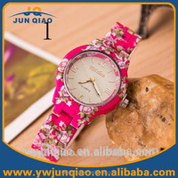 New Product Mix Colors Fancy Lady Watches Roman Dial Watches Silicone Flower Watches