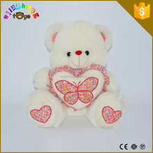 2015 Plush Valentines bear factory High quality soft animal baby comforter