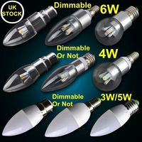 6w 4w E14 led candle bulb golf ball lights 220v 110v E27 B22 mini dimmable or non-dimmable lamp