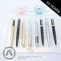 Free Samples Custom Printing Logo Cheap Metal Roller Ball Pens